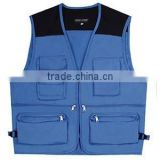 Wholesale blue safety vest with pockets