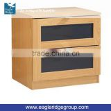 General Use Monza Two Drawer Bedside Cabinet