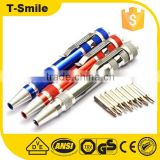 Pen shaped screwdriver set precision tool