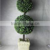 Cheap decorative boxwood ball artificial bonsai for indoor and outdoor