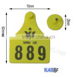 Animal equipment Laser insured cow visible ear tags WJ406-BF