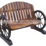 Outdoor Furniture Wooden Wagon Wheel Bench                                                                         Quality Choice