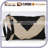 Wholesale Zipper Wristlet Cotton Pouch Wallet Women