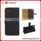 Hot Magnetic Leather Case for Sony Z5 Compact Wallet Case cover with card holder stand skin 10 color DXM-CP0604