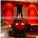 crystal glazed red and white wholesale mosaic vases for home deco
