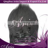 Alibaba supplier 8A grade clip in hair extension human hair extensions clip in hair extensions for black