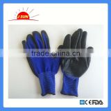 13G Zebra polyester shell Nitrile Coated gloves safety gloves working gloves, flexible and dexterous