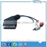 wholesale 90 degree scart cable Scart21male TO 2RCA scart to dvi cable