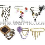 Beautial and Popular Safety pin for clothing decoration