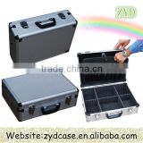 Silver Aluminum Briefcase Tool Cases With foam Carrying Tool Box