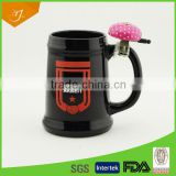 Hand Made Ceramic Beer Mug With Bell,High Quality Ceramic Beer Mug