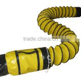 Fire resistant flexible duct with with carrying bag