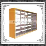 Library double-sided steel book shelf/Double face bookshelf double sided steel book shelf