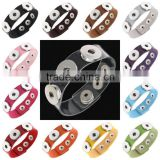 Snap Button Leather Bracelets Punk Gothic Bangles Wristbands