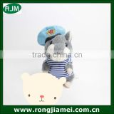 Newest cute navy version russian talking hamster plush toy repeating hamster with navy clothes