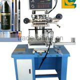 plane & round surface hot foil stamping machine for plastic ,media and beer glass bottle stoppers