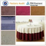 100% polyester jacquard table cloth fabric for banquet 300cm width