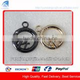 CD9067 Custom Decorative Metal Rhinestone Round Zipper Pulls for Garments