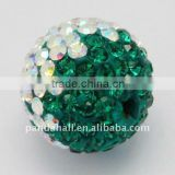 Austria Crystal Beads, with Polymer Clay, Round, 001AB_Crystal Aurore Boreale, Multicolor, about 12mm, hole: 1.5mm(SWARJ-H001-2)