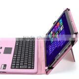 DIHAO for Microsoft Surface smart cover, leather case with keyboard and touchpad for Surface 3