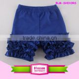 Royal blue boys icing capris shorts lovely solid color kids summer spring ruffle shorts