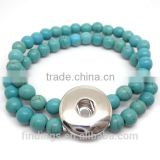 CJ2553 beaded gemstone bracelets,bali clicks jewelry,brass finding,snap button charm jewelry