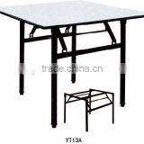 Square modern fast food dining mental leg hote banquet table YT13A