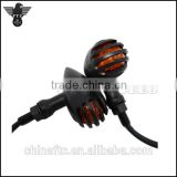 Motorcycle Custom Vintage Aluminum grilled Turn signals, indicator,LED Turn light For Harley