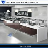 Hot sale modern fashionable luxury artificial marble wine bar counter design for restaurant