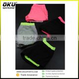 Hot Selling Women's Dri Fit Plain White Gym Shorts Mesh Fabric Breathable Running Shorts