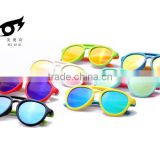 High quality soft silicone material Reflective polarizer kids sunglasses with color film