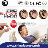 fashion design ear phones bluetooth music player china spy earpiece