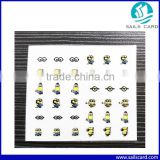 Colorful finger nail sticker Minions style ble nail sticker                                                                         Quality Choice