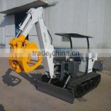 China Mini excavator with wood grapple