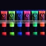 UV Glow Blacklight Face and Body Paint 0.34oz - Set of 6 Tubes - Neon Fluorescent                                                                         Quality Choice