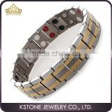 KSTONE Men's titanium germanium magnetic bracelets, Hottest 4 in 1 Bio energy Magnetic Titanium Bracelet