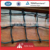Black PE braided nets with square mesh for sports net, like baseball / tennis / football nets