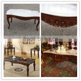 China 20 years factory wholesale hand carved coffee table marble top