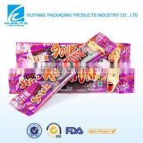 Top quality food plastic packet bag for chewing gum