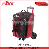 2014 Costomize bowling double bag with wheels China OEM