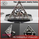 China Factory Beautiful Elegant Carving Birds Silver Plated Fashion Finger Ring
