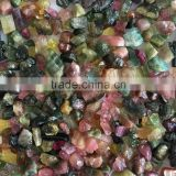 Natural tourmaline rough multi color raw opaque untreated loose gemstone