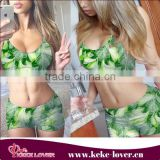 2015 new style fashion muslim swimwear colorful green swimwear women teo-piece sexy bikini swimwear Image