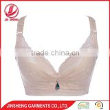Wholesale cheap price deep V-shape mesh lace bra nude bra for women