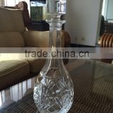 Beautiful Crystal Whiskey Wine Decanter Glass Bottle With Glass Topper