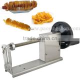 Manual Hot Dog Twister Spiral Tornado Potato Curly Fries Cutter with 12L Deep Fryer and Bamboo Skewers