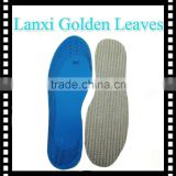 3mm thick blue latex shoe insole cotton hemp Breathe Insoles