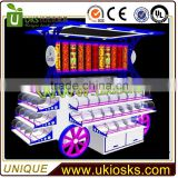 2016 Hot sale mall candy cart | cotton candy cart design with machine
