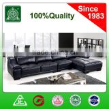 3029 black top grain cow leather living room furniture sofa set
