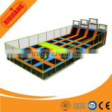 Children Bungee Jumping Fitness PVC with Fabric Rectangle Trampoline